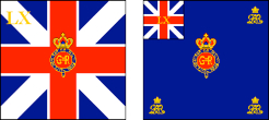 Regimental Colours of the 60th (Royal American) Regiment of Foot - Right, Kings Colour, Left, Regimental Colour
